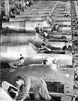 Name: Bf109assemblylineRegensburg.jpg Views: 415 Size: 111.5 KB Description: >Bf 109 raw-fuselage montage, Regensburg-Obertraubling