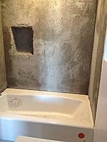 Name: Shower05.jpg Views: 144 Size: 174.1 KB Description: Brown coat ready for tile.