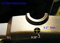 "Name: DSCF6125cl.jpg Views: 191 Size: 30.8 KB Description: Radio Back with 1/4"" Antenna hole."