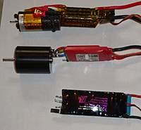 Name: Image8.jpg Views: 284 Size: 43.2 KB Description: Top to bottom: Modern Hacker F5D motor and Castle controller Lehner 1720 brushless motor with Knotronic controller Lehner brushless controller - the Mark 1
