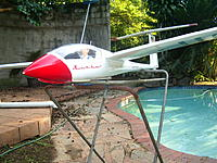 "Name: Mini Nimbus 007.jpg Views: 619 Size: 292.4 KB Description: Pilot in the ""office"""