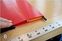 Name: Corro glider wing.jpg Views: 1265 Size: 92.0 KB Description: 6mm dowel over grooved corro gives good LE. Wood spar web takes bending loads. Yellow spacer. Flutes running cordwise. Black is separate ailerons.