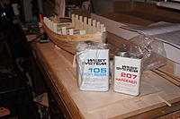 Name: DSC00345.jpg Views: 226 Size: 454.5 KB Description: I used to have some west system resin in the shed but I just could not find it.  So I bought some with 207 hardener instead of the normal 206 hardener.  Suppose to dry clearer.