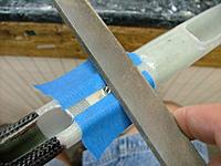 Name: DSCF4216.jpg Views: 641 Size: 119.2 KB Description: Filing the aluminum bolt carrier smooth