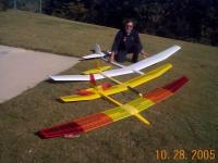 Name: Aquila, Oly2 and AquilaXL and Mike.jpg Views: 288 Size: 80.0 KB Description: Great flying airplanes ! I tend to build light due to sanding, no excess glue . And I undercamber the airfoil . Real floaters !