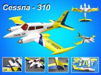Name: Cessna-310990.jpg Views: 485 Size: 86.7 KB Description: Product Name:  Cessna - 310   Size  Wing span: 92.5in / 2350mm                   Wing area: 1318 sq in / 85 sq dm Flying weight: 11lbs / 5000g            Fuselage length: 77 in / 1960 mm Engine Required: 2c 0.61 cu in x2   /    4c 0.91 cu in x2