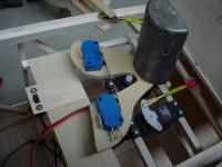 Name: DSC02951.jpg Views: 581 Size: 67.5 KB Description: Epoxying the funky looking plate to the rudder servo