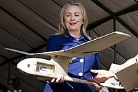 Name: Hillary&Drone.JPG