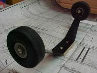 """Name: Indy40012.jpg Views: 250 Size: 73.6 KB Description: I used Hallco Landing gear that had been on a couple of previous planes.  Also used those FLAT Dubro tires to get that """"Indy"""" look!"""