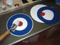 Name: Makeing Roundels 002.jpg Views: 285 Size: 94.7 KB Description: I then lightly ironed them together before putting them on the plane to be easier to get them straight