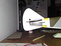 Name: DSC00533.jpg Views: 88 Size: 59.9 KB Description: The curve of the subfin is a bit off. It needs more sanding