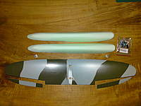 Name: DSC00550.jpg Views: 110 Size: 72.0 KB Description: Floats sanded round at the back-end and ailerons cut bigger as usual because of expected resistance by floats and pylons