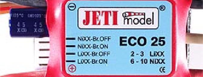 The Jeti 25 AMP ESC.