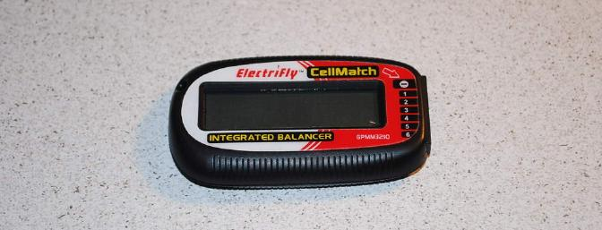 The small ElectriFly CellMatch voltage checker and balancer.