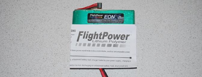 The FlightPower EON Lite 2100 mAh 3s 25c Battery