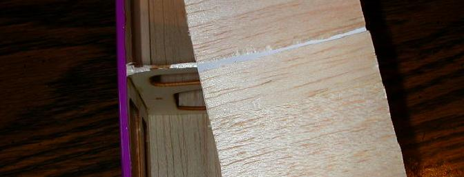 Note the excellent glue joints – see the missing balsa still stuck to the former?  Nice to see they used plenty of glue.