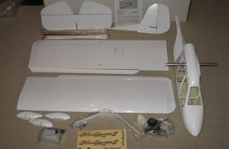 Very complete ARF - here are the parts laid out.