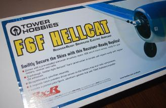 The box contains the ready to fly F6F Hellcat from Tower Hobbies.