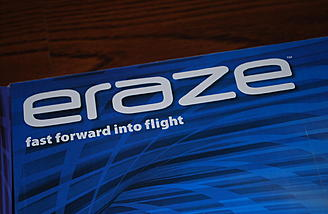 The box contains the ready to fly Eraze from Flyzone.