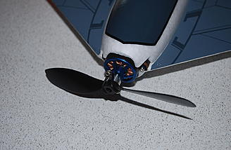 "The included prop saver collet and ""O"" ring secure the propeller."