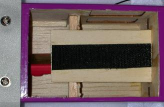 """I used two 3/8"""" sq balsa sticks to support the battery tray."""