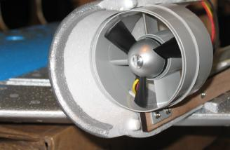 Motor fan and half of one nacelle.
