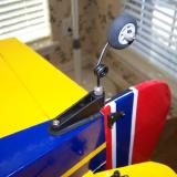 The steerable tail wheel screws to the tail and worked perfectly.