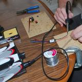 Tinning the ESC battery wires
