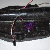 The servos actually mount to the center section of the Weasel making it unnecessary for you to disconnect them from the receiver when you disassemble, a great touch.