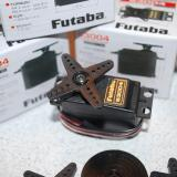 The full sized standard Futaba S3004 BB servos were a perfect fit in the cutouts.