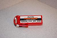 <font size=-2>ElectriFly 4s 2200mAh 14.8V 25c LiPo battery</font>