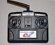 <font size=-2>Included eRC Micro Series 2.4GHz mini transmitter</font>
