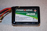 <font size=-2>POWERWING 3s 11.V LiPo battery</font>
