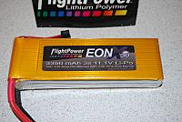 <font size=-2>2 - FlightPower 3s 3350mAh 11.V LiPo battery</font>