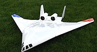 Name: X-48.jpg Views: 27 Size: 403.3 KB Description: X-48 with 2 x 68mm 300 watts each EDF, 2x 3S1P batteries. 1500 ws. Fairly successful.