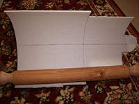Name: Depron9.jpg Views: 251 Size: 84.9 KB Description: Then you need a carpet and a rolling pin.