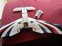 Name: Betsie.jpg Views: 81 Size: 84.1 KB Description: Summer 09. Holiday project. A flying wing with a detachable canard.  2 for the price of one.