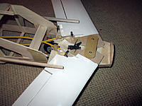 Name: IMG_1272.JPG Views: 59 Size: 985.9 KB Description: Canard sweep.  It's best to control the elevator panels with servos situated inside each wing.