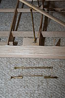 Name: Cub struts_04.jpg Views: 555 Size: 116.2 KB Description: Without the jury struts, it looks like a cheap readymade. Rather than bend wire struts to fit, I made mine from two brass tube ends and a wire central portion soldered together in place.