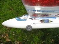 Name: Wheels 2.JPG Views: 4200 Size: 106.7 KB Description: View from side - I mounted them slightly ahead of leading edge of wing.