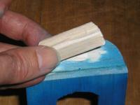 Name: Canopy 17.JPG Views: 1612 Size: 67.4 KB Description: 17.You will need a �plug� to hold the front of the canopy into the plane.  I used 2 thicknesses of my sheet.  Scrape off any paint (or mask it before painting) before gluing, or glue it before painting.