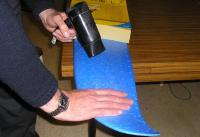Name: esam425.JPG Views: 3143 Size: 77.0 KB Description: To avoid accidental warping, I warmed the TOP of the wing and bent it flat, using my hands and bending it CAREFULLY over a bench