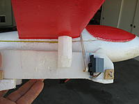 Name: IMG_3881.JPG Views: 122 Size: 711.8 KB Description: A short control horn on the servo holds the rubber band until the retract switch is activated.