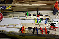 Name: 4.jpg Views: 167 Size: 73.3 KB Description: Using small clamps to hold until the glue sets. I marked my fuse sides left and right. The late nights can play tricks on you.